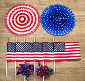Celebration items for the Fourth of July Indepence day in United Royalty Free Stock Photos