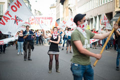 Celebration of liberation held in Milan on 25 April 2014 Stock Photography