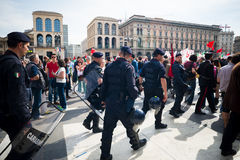 Celebration of liberation held in Milan on 25 April 2014 Royalty Free Stock Photography
