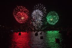 Celebration of light, Vancouver, BC, Canada Royalty Free Stock Image