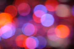 Celebration lights. Defocused illuminated lights in night Royalty Free Stock Images