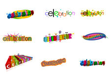 Celebration logos Stock Images