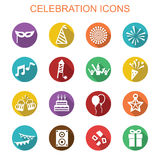 Celebration long shadow icons Stock Photos