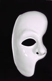 Celebration mask. Celebration half of mask,white on the black background Royalty Free Stock Photo