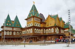The celebration of Maslenitsa in Kolomenskoye, Moscow, Russia Royalty Free Stock Photo