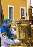 Celebration of Maslenitsa on the territory of the Peter and Paul Fortress in St. Petersburg
