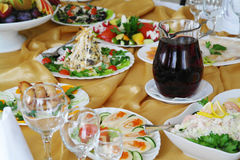 Celebration meal Stock Photography