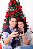 Celebration moments at Xmas Royalty Free Stock Photos
