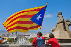 Celebration of the National Day of Catalonia in Ba Stock Image