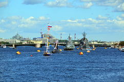 The celebration of the Navy day, St. Petersburg Royalty Free Stock Photography
