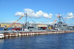 The celebration of the Navy day, St. Petersburg Stock Image
