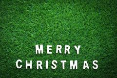 Christmas alphabet on green grass Royalty Free Stock Image