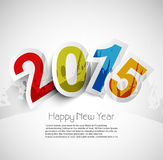 Celebration for new year 2015 colorful background. With stylish text royalty free illustration