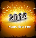 Celebration 2014 new year colorful design backgrou Royalty Free Stock Images