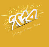 Celebration for new year 2014 colorful design illu Stock Photography