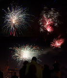 Celebration of the new year with fireworks Stock Images