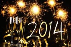 Celebration the new year 2014 Royalty Free Stock Image