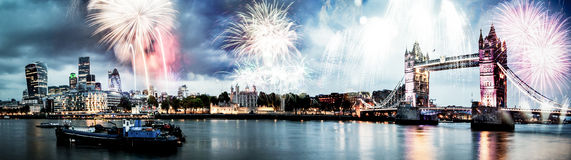 Celebration of the New Year in London, UK Royalty Free Stock Photography