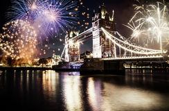 Celebration of the New Year in London, UK Stock Image