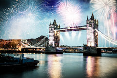 Celebration of the New Year in London, UK Royalty Free Stock Image