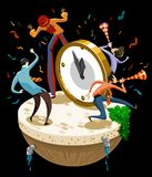 Celebration of new year's day. Detailed  illustration Royalty Free Stock Photography