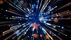 Celebration Night Background. Stars and Streaks Background for party,holidays and celebration. 8K Ultra HD Resolution at 300dpi Stock Illustration
