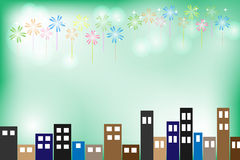 Celebration in the night with firework. Celebration in the night, celebration  background Stock Photo