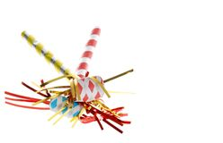 Celebration noise makers Royalty Free Stock Image