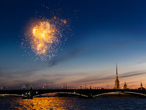 Celebration Of The Victory Day In The Second World War In Saint- Royalty Free Stock Photo