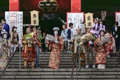 Free Celebration Of Three Lords At Nagoya Festival, Japan Royalty Free Stock Photography - 200336767