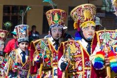 Celebration in Ollantaytambo Peru Stock Image