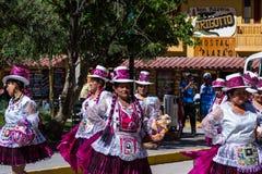 Celebration in Ollantaytambo Peru stock photography