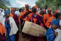 Celebration in orthodox ethiopian christian church. Stock Image