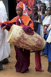 Celebration in orthodox ethiopian christian church. Royalty Free Stock Photos