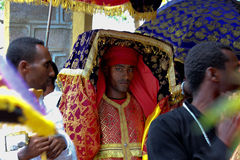 Celebration in orthodox ethiopian christian church. Royalty Free Stock Images
