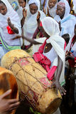 Celebration in orthodox ethiopian christian church. Stock Photography