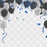Celebration party background with balloons and serpentine. Greet. Ing, invitation or flyer. Party colorful Royalty Free Stock Images