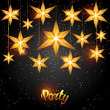Celebration party background with starsornament. Greeting, invitation card or flyer.  Stock Photography