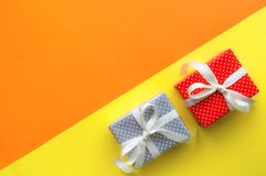Celebration,party backgrounds concepts ideas with colorful gift box present Royalty Free Stock Photos