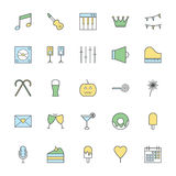Celebration and Party Bold Icon Illustration 2 Royalty Free Stock Photo