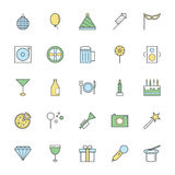 Celebration and Party Bold Icons Illustration 1 Stock Image