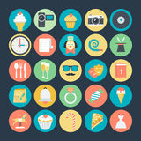Celebration and Party Colored Vector Icons 2 Royalty Free Stock Photography