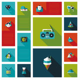 Celebration party flat ui with long shadow,eps10 Royalty Free Stock Photography