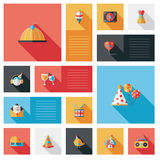 Celebration party flat ui with long shadow,eps10 Royalty Free Stock Photos