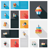 Celebration party flat ui with long shadow,eps10 Stock Photography