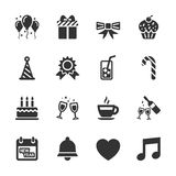 Celebration and party icon set, vector eps10 Royalty Free Stock Photography