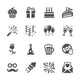 Celebration and party icon set 3, vector eps10 Stock Photos