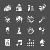 Celebration and party icon set, vector eps10 Royalty Free Stock Photos