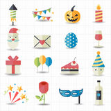 Celebration, Party icons. This image is a vector illustration Royalty Free Stock Images