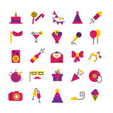 Celebration Party Icons Set Stock Photo